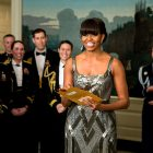 "Michelle Obama presents Best Picture Award to ""Argo"""