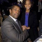Denzel with actress Quvenzhané Wallis