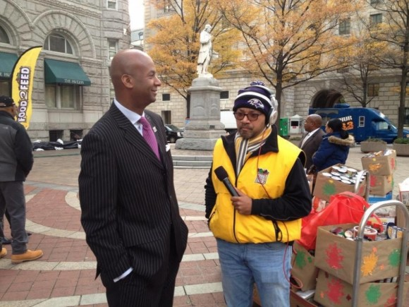 Speaking with DC Councilman Michael Brown, at Food 2 Feed 2012.