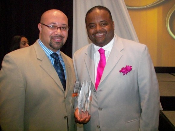 At NABJ Chicago, with Roland Martin...