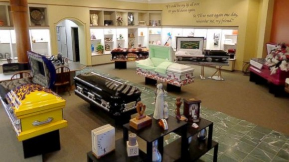 casket-in-showroom