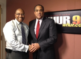 Harold Fisher and David Harrington, President of the Prince George's County, Md. Chamber of Commerce
