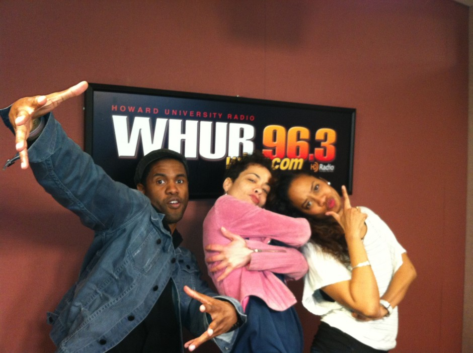 Cinderella:The Remix Writer/Director Psalm & Lead Actress Paige Hernandez pose with WHUR's Nikki Strong (center)