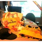 "Lion King Crew Members bring ""Swag Bags"" for WHUR Staff members"