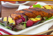 DH_SweetChiliRubbedSalmonwithGrilledPeachRaspberrySaladRecipes