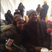 Mayor Marion Barry with Molette Green at WHUR Food 2 Feed 2015