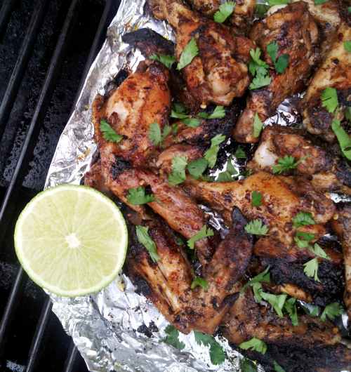 Jerk Chicken Wings Grilled in A Foil Packet 04