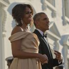 Barack Michelle Obama dinner_ AP Images
