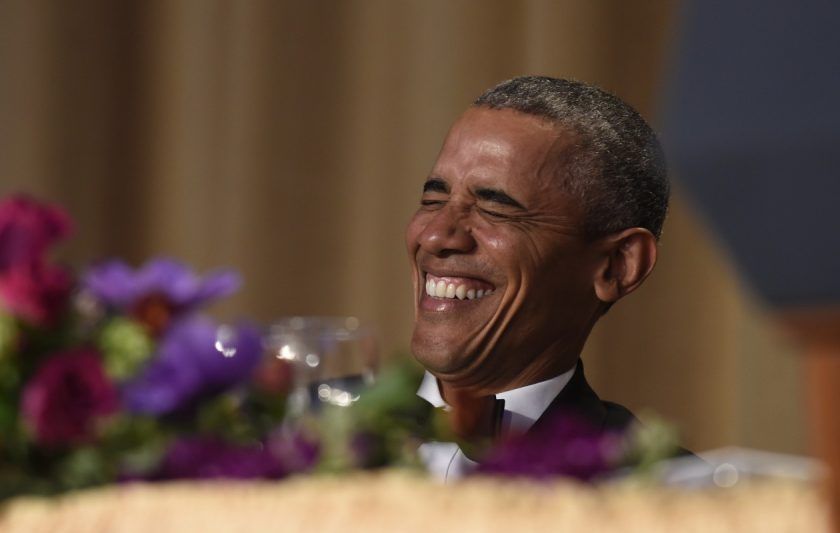 Barack Obama laughing_Ap Images