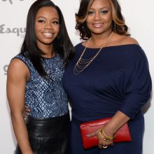 Gabby Douglas and mom Natalie Hawkins_ AP Images