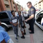 police with kids community_ AP Images