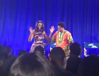 Michelle Obama at Howard