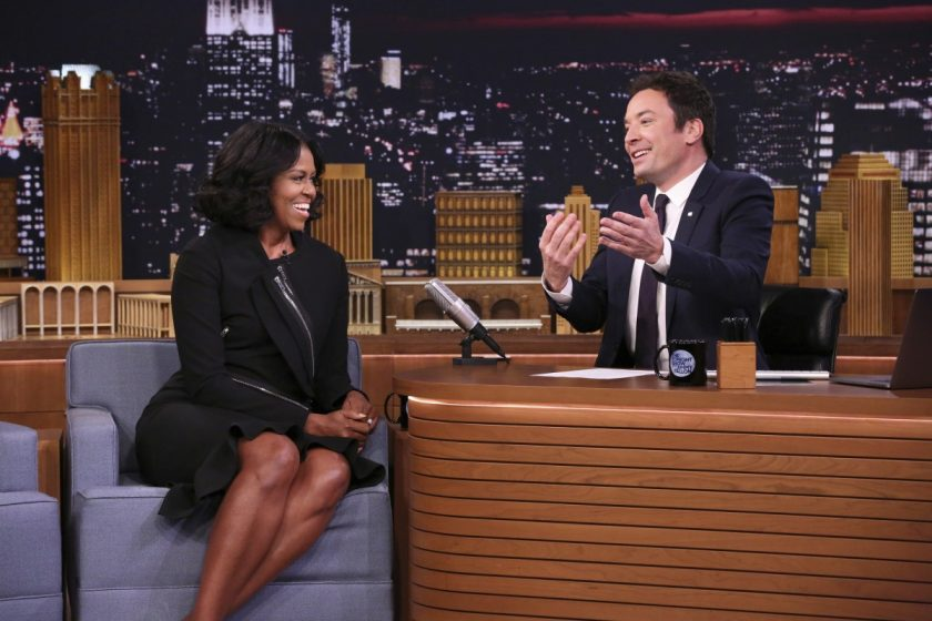 Michelle Obama Jimmy Kimmel_AP Images