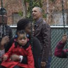 Obama with black family_AP Images