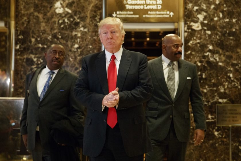 Steve Harvey meets with Donald Trump_AP Images
